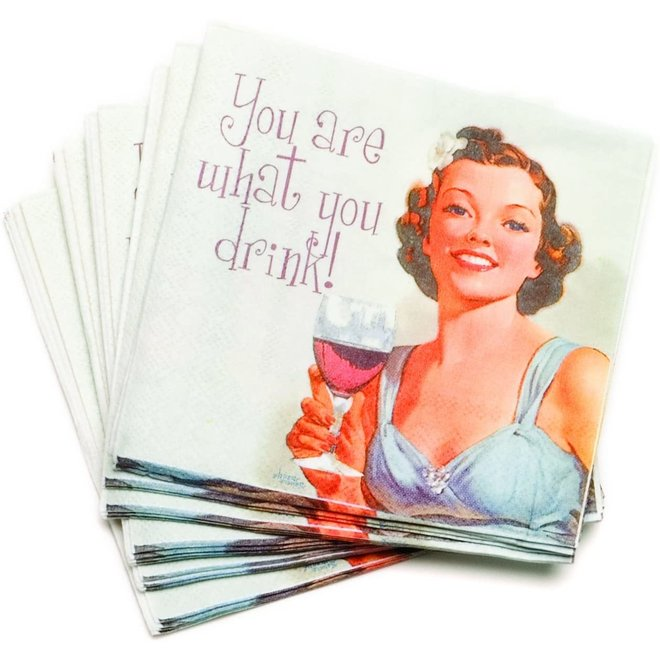 You Are What You Drink Cocktail Napkins