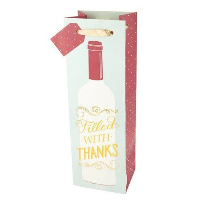Filled with Thanks Wine Bag
