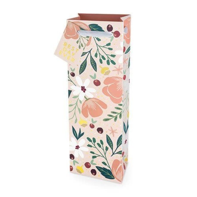Best Day Ever Floral Wine Bag