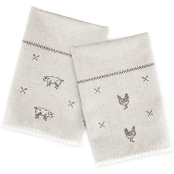 Rustic Farmhouse™ Linen Napkin Set by Twine