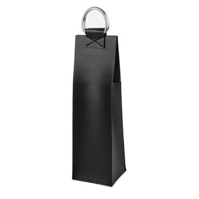 Admiral™ Faux Leather Black Wine Tote by Viski