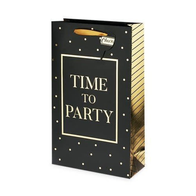 Time to Party 2 Bottle Wine Bag