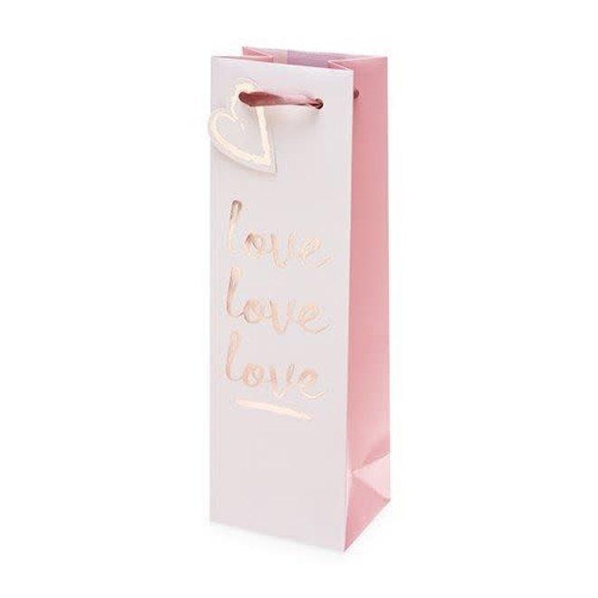 Love Love Love Single Bottle Wine Bag