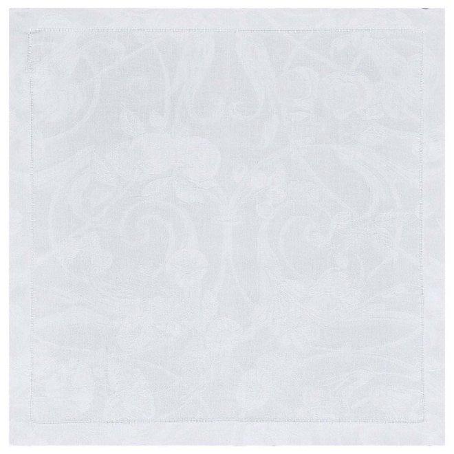 Linen Cocktail Napkin Tivoli White Set of 6