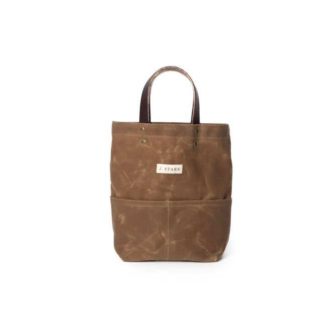 J. Stark Tremont Brush Brown Wine Tote