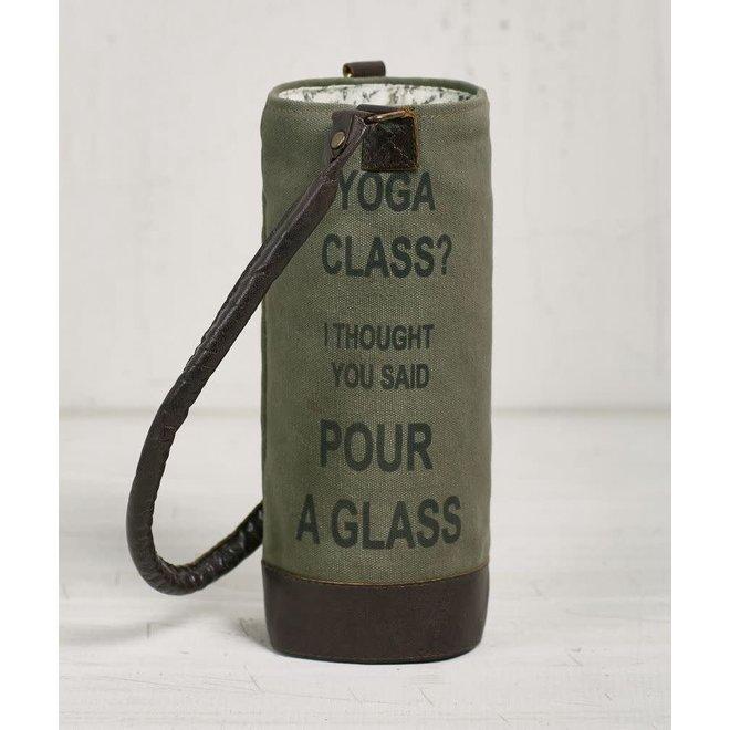 Yoga Class Wine Tote