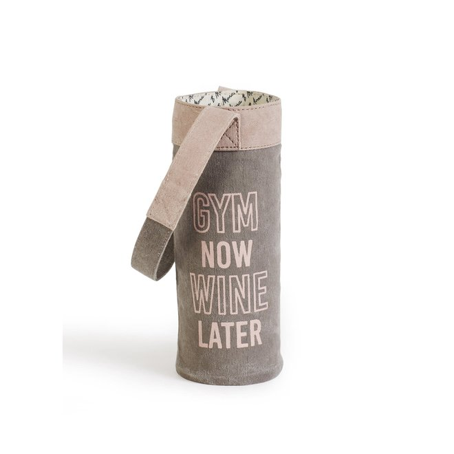 Gym Now Wine Later Wine Tote