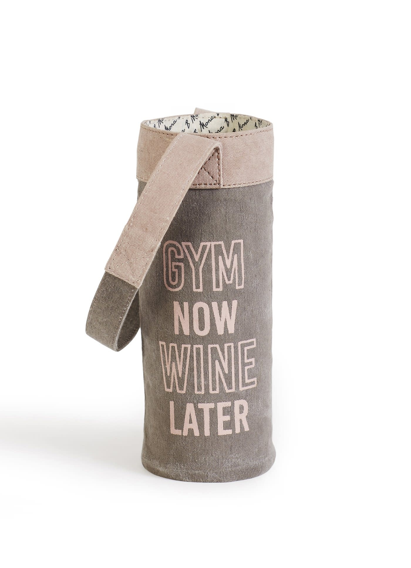 Wine Later Tote bag Gym Now