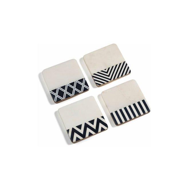 Marine Marble Assorted Coasters (Set of 4)