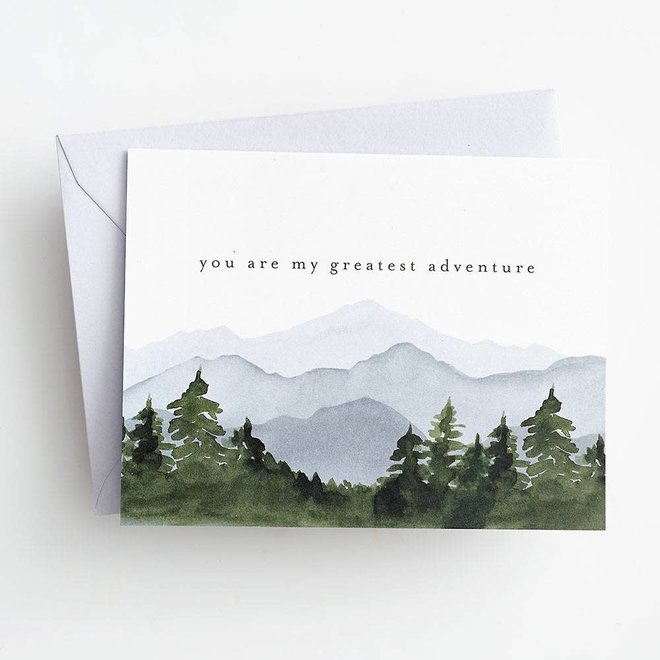 Greatest Adventure Mountains Card