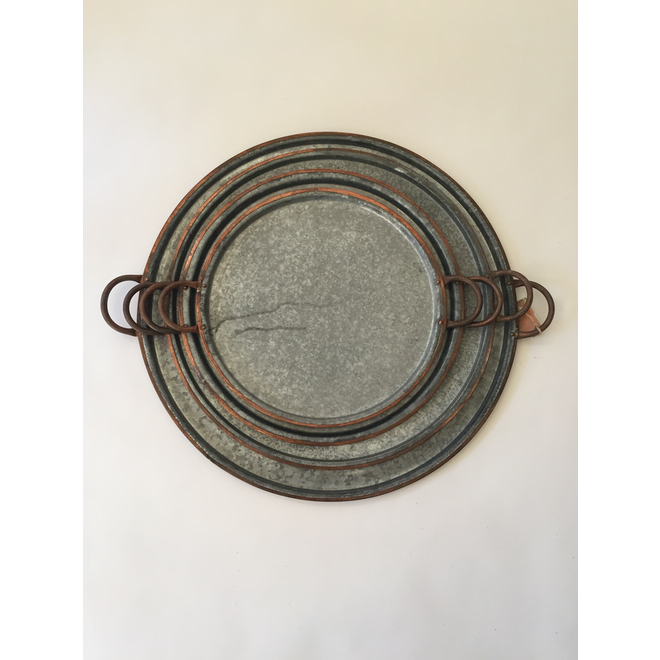 Galisteo Copper Edge Tray-Large