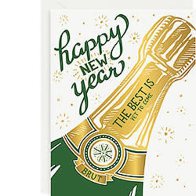 Happy New Year Champagne Bottle 10 cards + envelopes