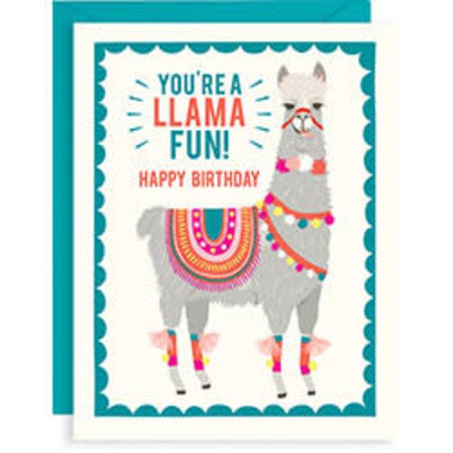 Llama Fun Birthday card