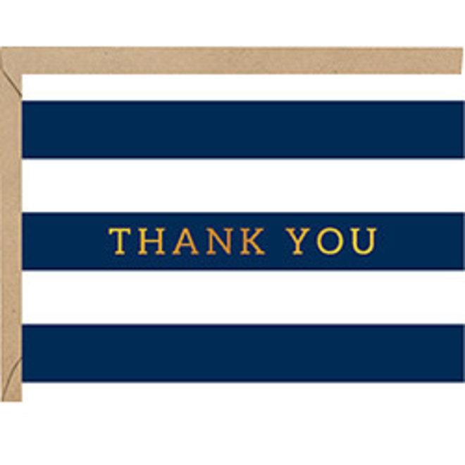 Navy Stripes Thank you