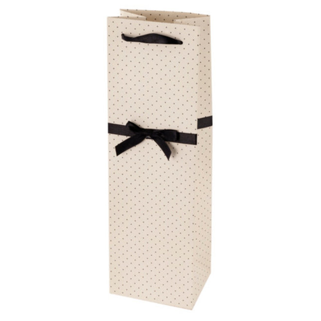 Elegant White and Black Wine Bag by Cakewalk