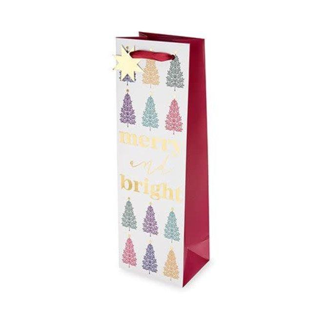Merry & Bright Trees Bottle Bag