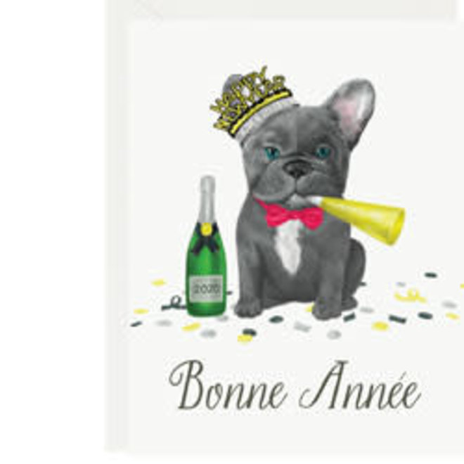Frenchie New Year Card