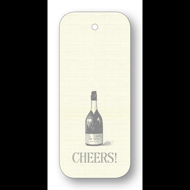 Maison de Papier Wine Tags Cheers bottle