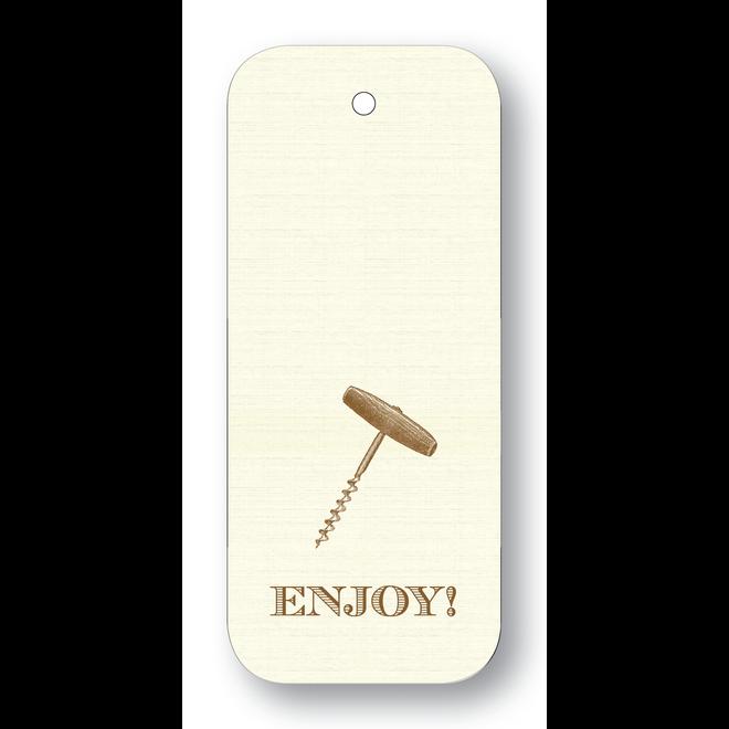 Maison de Papier Wine Tags Enjoy!