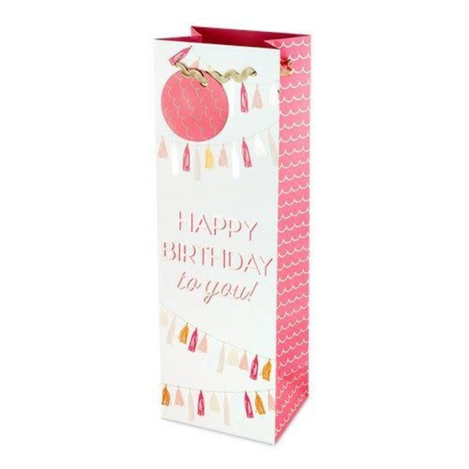 Happy Birthday Garland Wine Bag