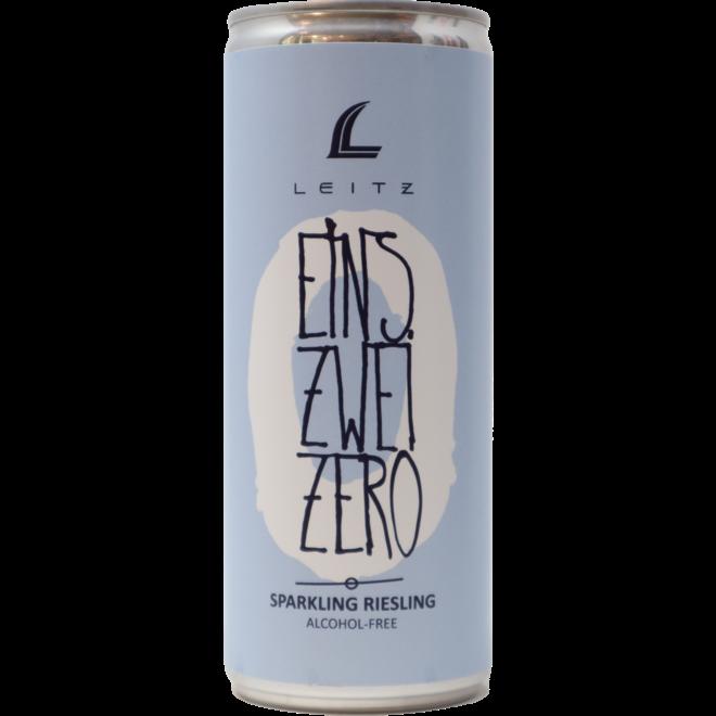 "NV Weingut Leitz ""Eins Zwei Zero"" Sparkling Riesling, Rheingau, Germany Non-Alcoholic (250mL Can)"