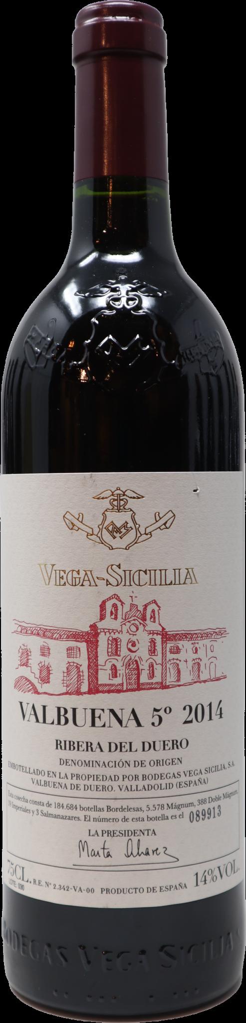 2014 Vega Sicilia Valbuena 5 Ribera Del Duero Perrine S Wine Shop
