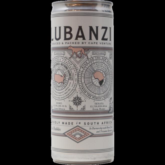 NV Lubanzi Rosé Bubbles 12 oz. Can, Swartland, South Africa