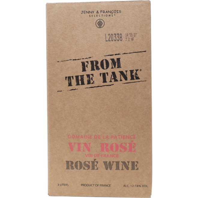From The Tank Rose, Rhone Valley, France 3L