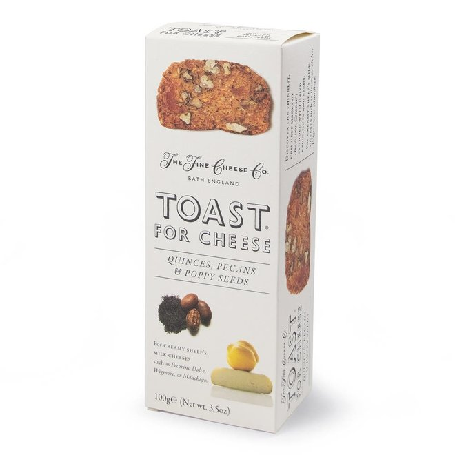Fine Cheese Co. Toast For Cheese   Quince, Pecan, & Poppy Seed (4.4oz)