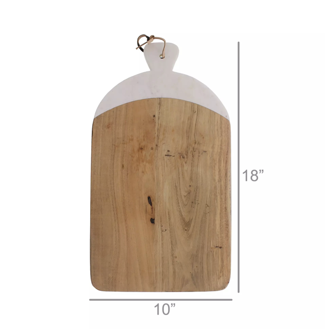 Mercer Cutting Board, Wood & Marble - Rectangle