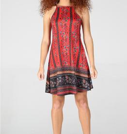 Square neck swing dress