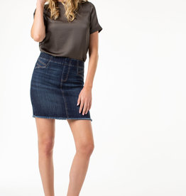 Liverpool Cat eye pocket pull-on skirt