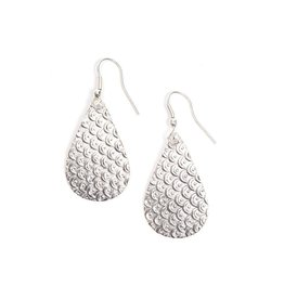 Matr Boomie Art Deco Scallop earrings silver