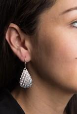 Matr Boomie Art Deco Scallop earrings silver