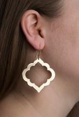 Matr Boomie Ashram Window earrings gold