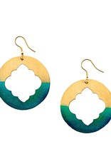 Matr Boomie Ashram Window earrings gold patina