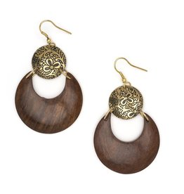 Matr Boomie Earth & Fire lunar earrings