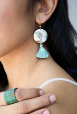 Matr Boomie Hammered Tassel earrings