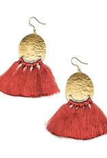 Matr Boomie Nihira tassel earrings- red