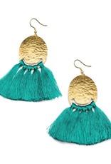 Matr Boomie Nihira tassel earrings- teal