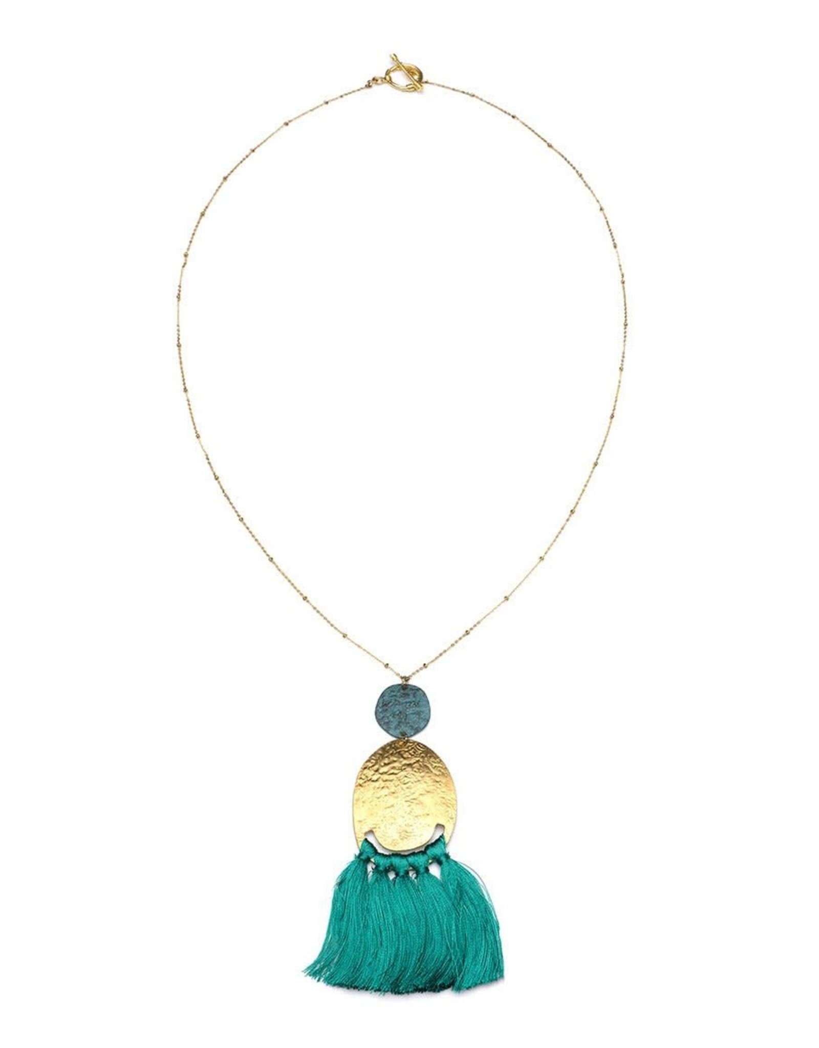 Matr Boomie Nihira tassel necklace teal