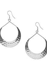 Matr Boomie Lunar crescent silver earrings