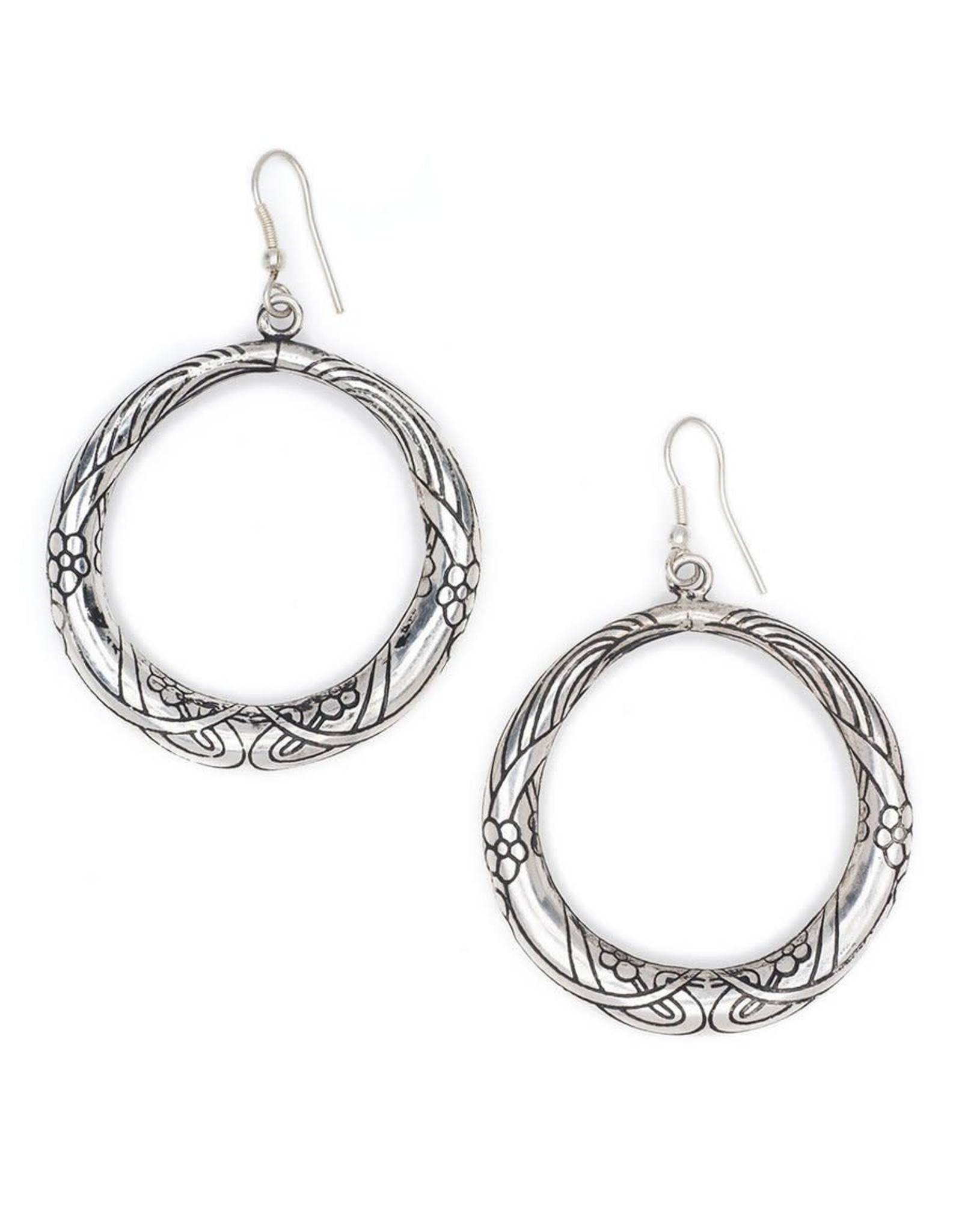 Matr Boomie Selene hoop earrings- silver