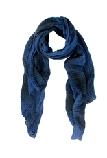 Faded Plaid scarf navy