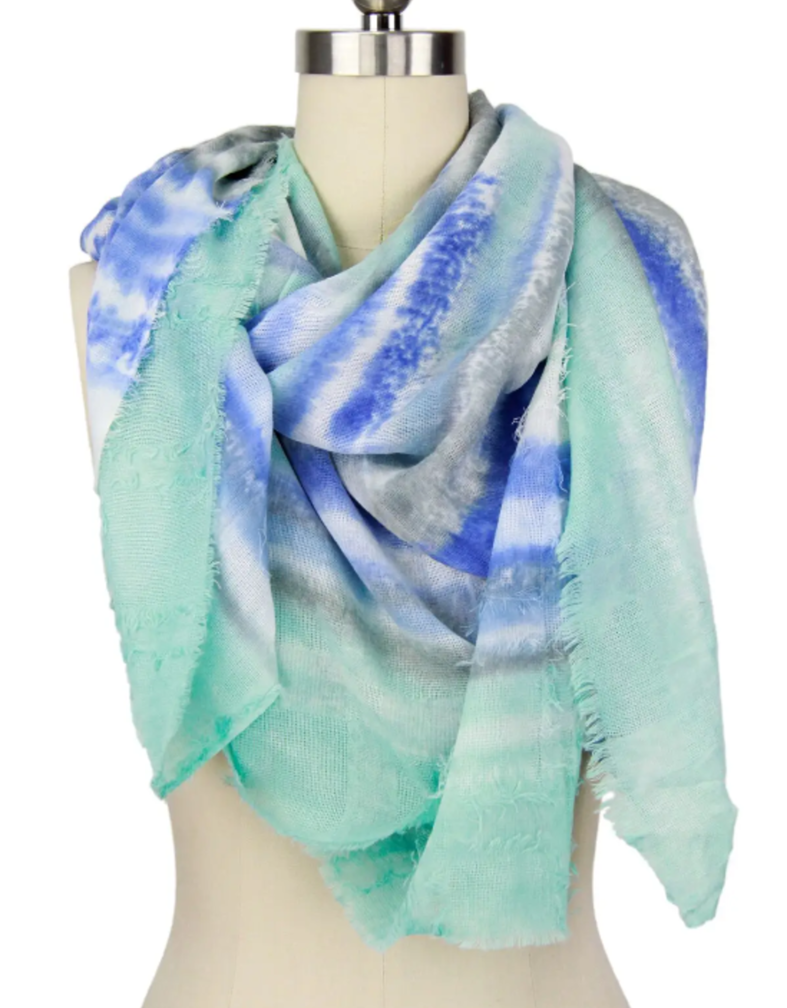 Turquoise tie dye scarf