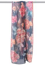 Screen printed cotton silk scarf