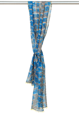 Marigold Row Hand-dyed embroided cotton scarf