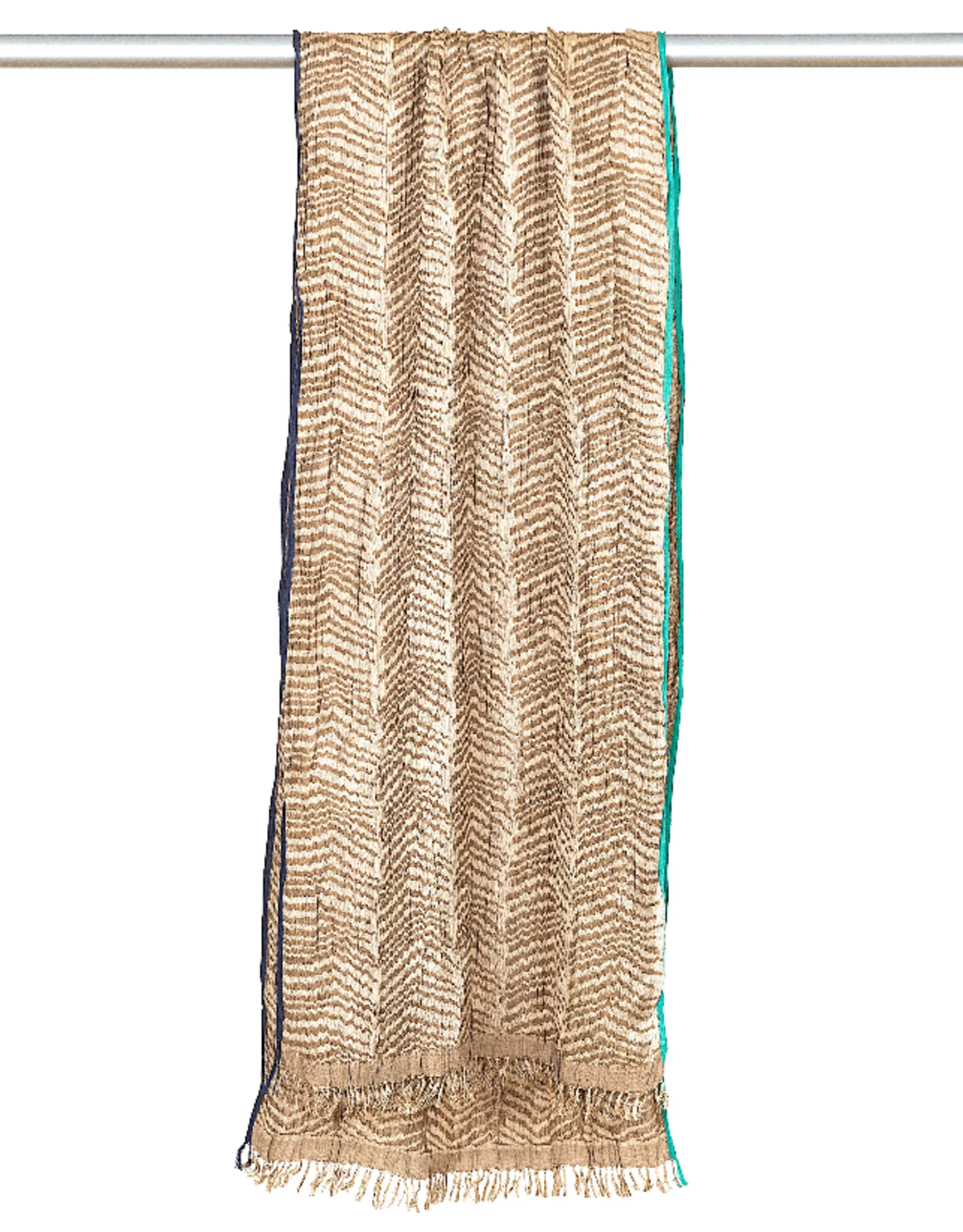 Marigold Row Handwoven crinkled silk scarf