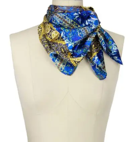 Silky blue print bandana
