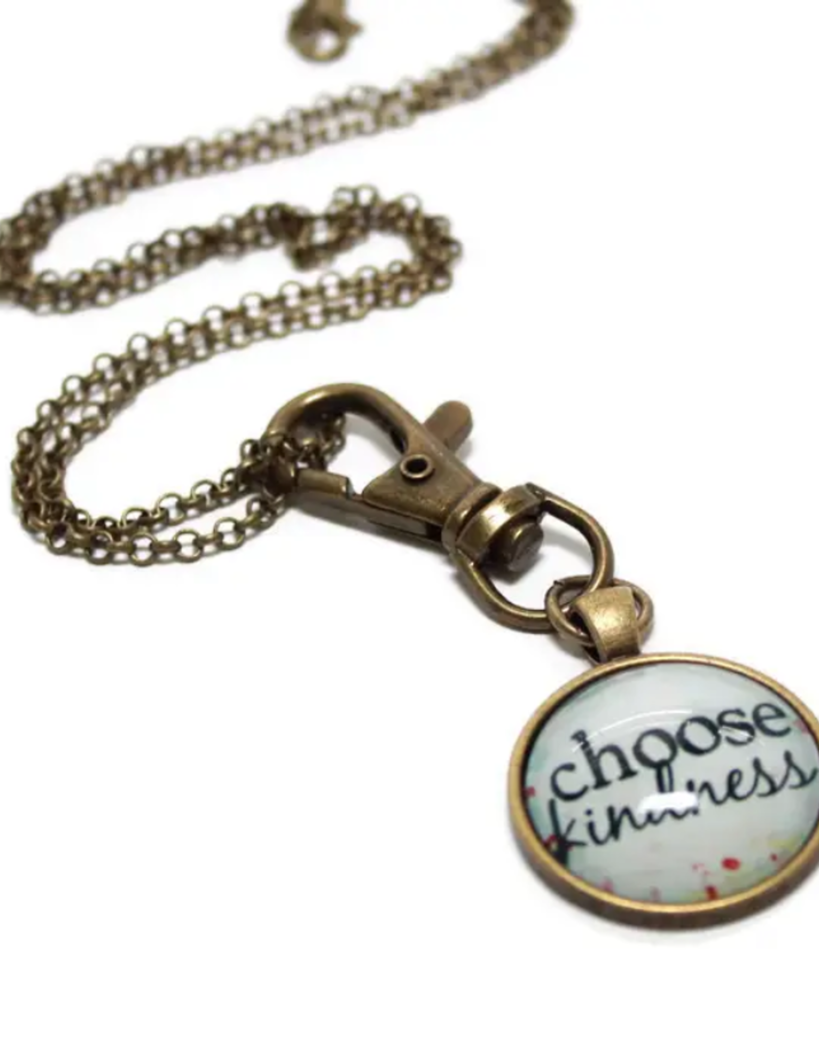 Gleeful Peacock Choose Kindness necklace